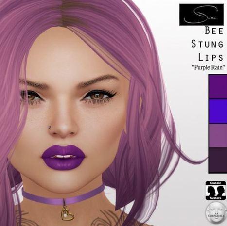 Second Life Freebies Bee Stung Lips Purple Rain - NessMarket | 亗 Second Life Freebies Addiction & More 亗 | Scoop.it