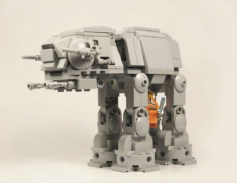 Adorable Lego AT-AT: He'll Still Work for the Empire When He Grows Up | All Geeks | Scoop.it