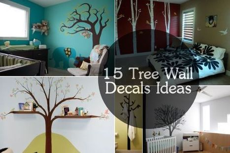 15 Playful And Chic Tree Wall Decals | Déco Design | Scoop.it