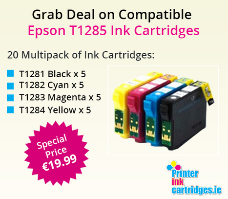 Get Amazing 20 Pack Deals on Compatible Epson T1285 Ink Cartridges at Just €19.99 | Find the Best Value Ink and Toner Cartridges with Multipack Deals in Ireland | Scoop.it