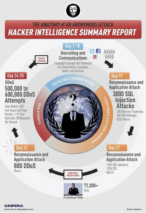 Anatomie d'une attaque informatique des Anonymous [Infographie] | Time to Learn | Scoop.it