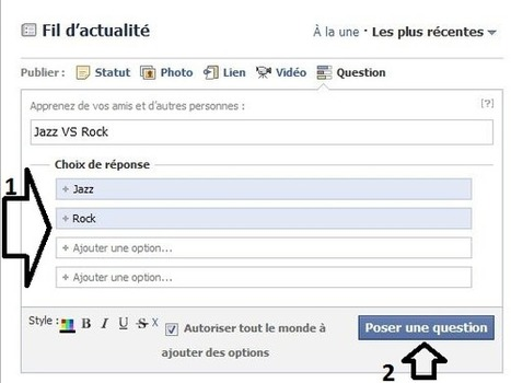 Faire un sondage sur Facebook | Time to Learn | Scoop.it