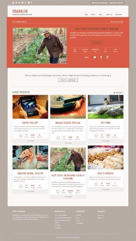 Franklin, WordPress Premium Crowdfunding Theme | WP Download | Premium WordPress Themes Download | Scoop.it