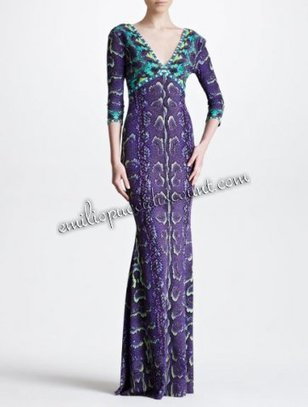 EMILIO PUCCI Three quarter sleeve Snake-print Gown Sale [Snake-print Gown] - $203.99 : Emilio pucci dresses online outlet,discount pucci dresses on sale! | chic items | Scoop.it