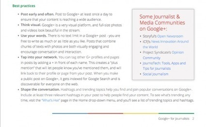 Journalists: Use Google+ the right way with this guide | Business in a Social Media World | Scoop.it
