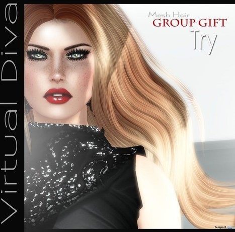 Try Hair Group Gift by Virtual Diva | Teleport Hub - Second Life Freebies | Second Life Freebies | Scoop.it