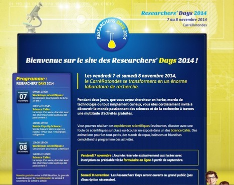 Researchers' Day 2014 | Education | Luxembourg | Europe | INTELIGENCIA GLOBAL | Scoop.it