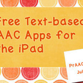 Free Text-based AAC Apps for the iPad | How to use Web 2.0 Tools In Special Education | Scoop.it