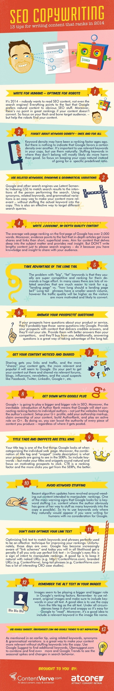 SEO Copywriting – 13 Tips for Writing Content that Ranks in 2014 (Infographic) | WordPress | Scoop.it