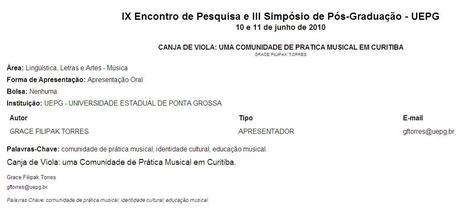 Canja de Viola: Uma Comunidade de Prática Musical em Curitiba   Communities of Practice (CoP)   Scoop.it
