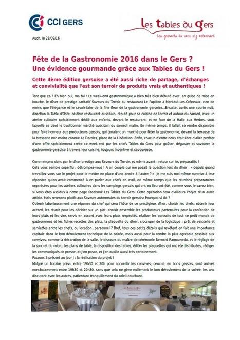 Les Tables du Gers ont fêté la Gastronomie ! | Les Tables du Gers | Scoop.it
