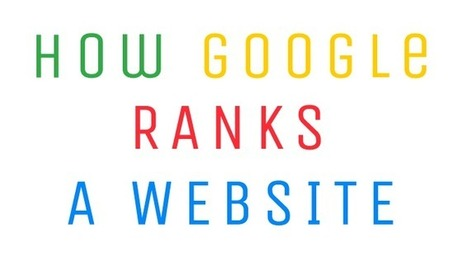Infografica: come fa Google a determinare il tuo ranking | Digital Marketing News & Trends... | Scoop.it
