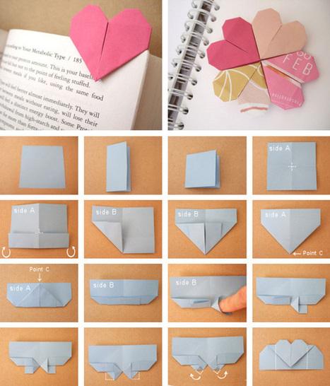 Marcapáginas de corazón en Manualidades para decorar y detalles de decoración del hogar, fiestas y eventos | Con tus propias manos - Lola | Scoop.it