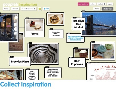Popplet | Collect, curate and share your ideas, inspirations, and projects! | Free Web Gadgets | Scoop.it