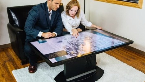 "4K multitouch coffee table supports ""tangible"" objects 