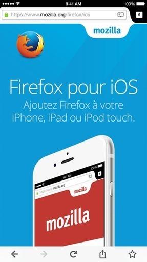 Firefox est désormais disponible sur iOS   Presse-Citron   L'e-Space Multimédia   Scoop.it