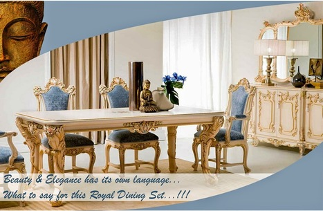 Buy Dining Room Furniture That Suites Your Requirements ~ Dave's Export House | Home Furniture | Scoop.it