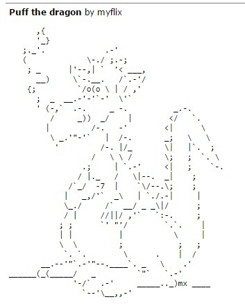 ASCII Art Dragons - ascii-code.com | ASCII Art | Scoop.it