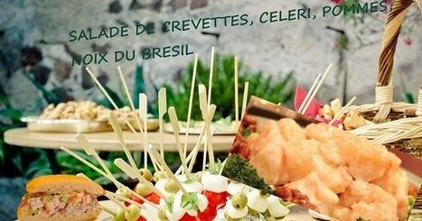 Recette de salade de crevettes aux pommes, céleri, oeufs et noix du Brésil | Street food : la cuisine du monde de la rue | Scoop.it