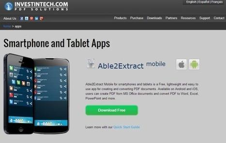 Able2Extract: crea archivos PDF y conviértelos a otros formatos desde iOS y Android | paprofes | Scoop.it
