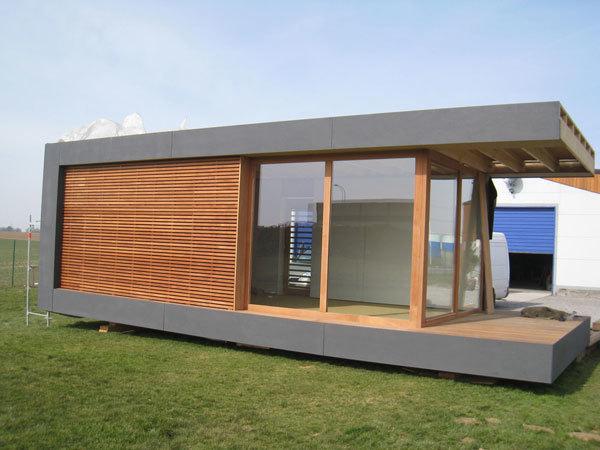 Une maison bois transportable maison bois m for Module maison bois