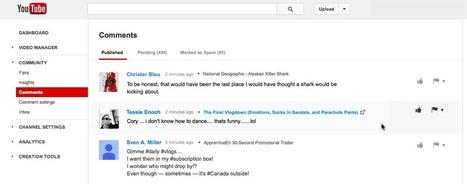 Youtube crée une page de gestion des commentaires | Social Media Curation par Mon Habitat Web | Scoop.it