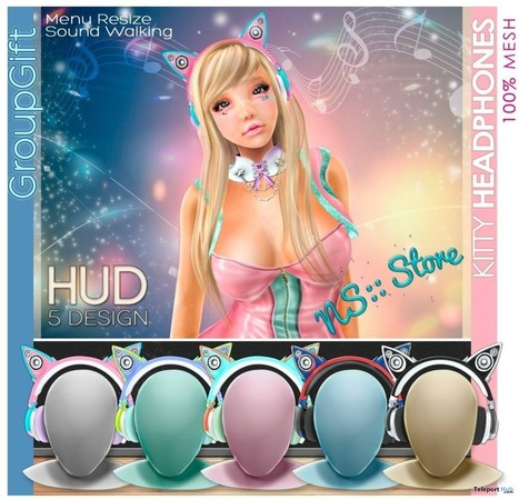 Kitty Headphone with HUD Group Gift by NS | Teleport Hub - Second Life Freebies | Second Life Freebies | Scoop.it