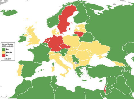 Map: How Europe voted on Palestine at the U.N., in 2011 and now | Randoms | Scoop.it