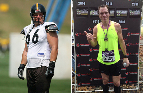 Former 300-pound NFL lineman loses 100 pounds and runs a marathon | Mindfulness & Mindful Running | Scoop.it