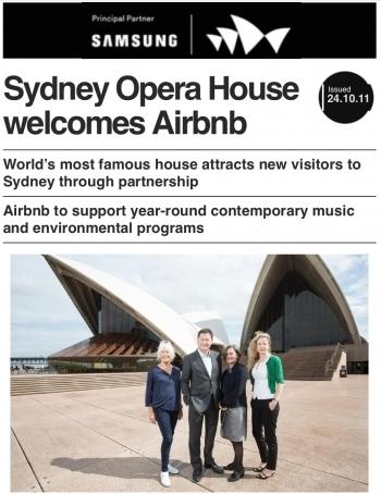 Sydney Opera House hosts Airbnb as new sponsor ! | Concert Halls, Auditoriums & opera houses | Scoop.it
