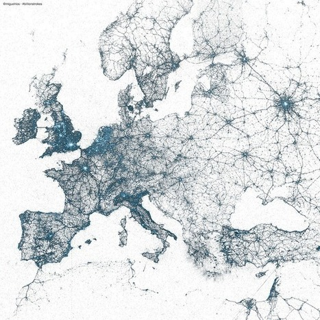 Billions of Geotagged Tweets Visualized | 3 Rules of Composing Good Photos | Scoop.it