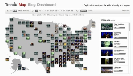 Introducing the YouTube Trends Map | Youtube | Scoop.it