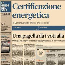 Lunedì sul Sole la Guida alla certificazione energetica | Efficienza Energetica degli Edifici - Certificazioni | Scoop.it