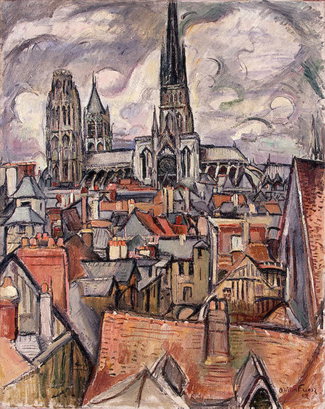 'Roofs and Cathedral in Rouen' Othon Friesz | Rouen | Scoop.it