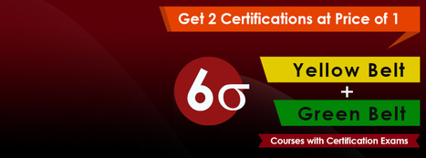 Six Sigma Green Belt + Yello Belt  online training with certification Exam | Cognitel Training Courses | Scoop.it