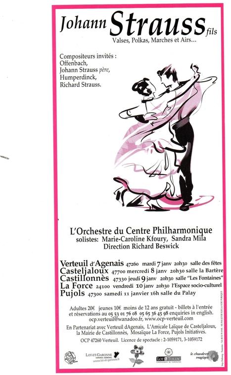 Jeudi 09/01/2014 - Orchestre Philarmonique - Castillonnès | Réseau Professionnel Tourisme - Office de tourisme Coeur de Bastides | Scoop.it