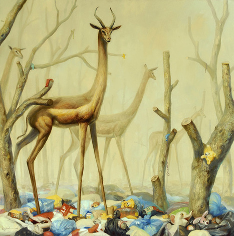 Fantastical Paintings of Animals Within Post-Apocalyptic Environments by Martin Wittfooth | The Arts and Sustainability | Scoop.it