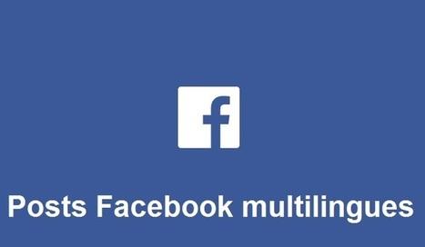 Facebook lance le post multilingue avec 44 langues disponibles pour les profils | Stratégie digitale et médias sociaux | Scoop.it