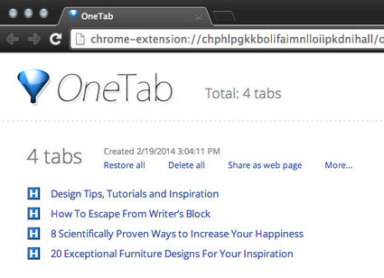 5 Best Extensions To Manage Chrome Tabs & Memory | iGeneration - 21st Century Education | Scoop.it