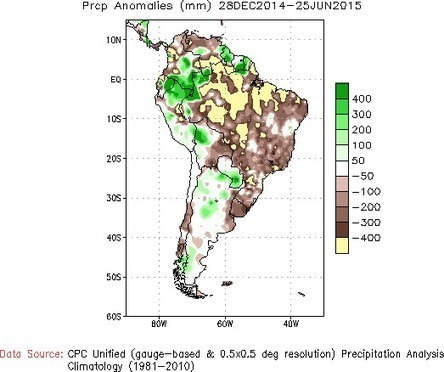It's Not Just Sao Paulo -- Much of South America and Caribbean Swelters Under Extreme Drought | GarryRogers NatCon News | Scoop.it