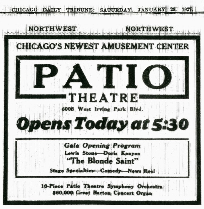 Mitch O'Connell: Vanishing Chicago- The Patio Theatre, the Last Movie Palace! | Visiting The Past | Scoop.it
