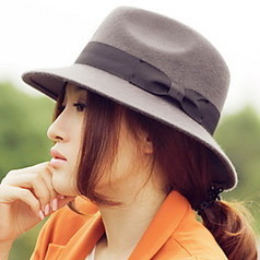 Women's Adjustable Wool Bow Fedora Hat(Circumference:54-58CM) | Product We Love | Scoop.it
