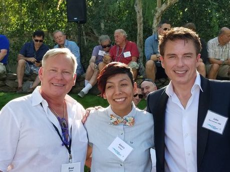 John Barrowman honored at LGBTQ event at Barry Manilow estate