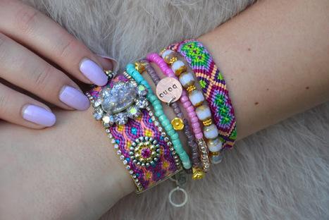 Bohemian bracelet – arm party | DIY bracelets | Scoop.it