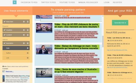 FetchRSS génère un fil RSS à partir d'une page Web, d'un compte Facebook, Twitter ou YouTube | Veille en dilettante | Scoop.it