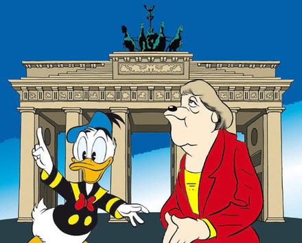 Angela Merkel guest star su Topolino | DailyComics | Scoop.it