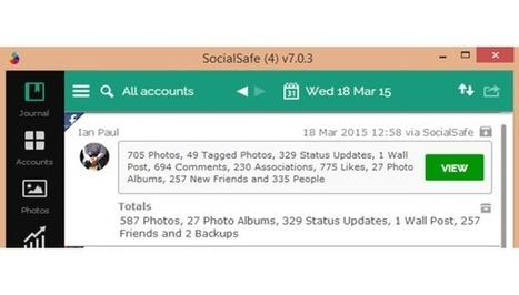 Automatische back-up van je social media met SocialSafe - Computer Totaal | Mediawijsheid in het VO | Scoop.it