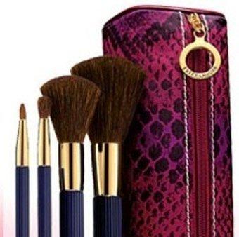 Review Estee Lauder Makeup Brush Set – Face Blush Eye Shadow & Lip 4pcs +Bag   Beauty Makeup Brushers Review   Shopping Online 2013   Scoop.it