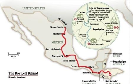 The map of Enrique's Journey | Enrique's Journey- Immigration | Scoop.it