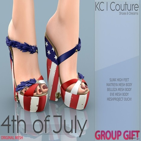 4th of July Heels Group Gift by KC Couture | Teleport Hub - Second Life Freebies | Second Life Freebies | Scoop.it
